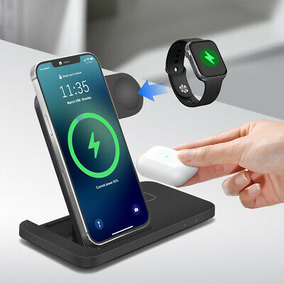 $ CDN25.44 • Buy 3in1 Qi Wireless Charger Dock For IWatch 6/SE/5/4/3/2 AirPod IPhone 12 12 Pro 11