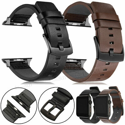 AU20.99 • Buy Genuine Leather Band Strap For Apple Watch Series 6 SE 5 4 3 2 1 38/42/40/44mm