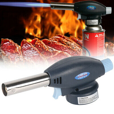 Butane Gas Blow Torch Flamethrower Burner Welding Auto Ignition Camping BBQ Tool • 5.35£