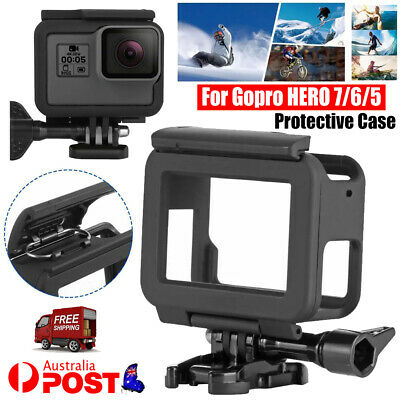 AU13.99 • Buy For GoPro Hero 7/6/5 Housing Border Protective Shell Case With Socket & Screw