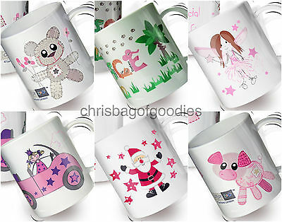 £13.99 • Buy PERSONALISED KIDS Childrens Colourful PLASTIC MUGS Cups Named Gifts For GIRLS