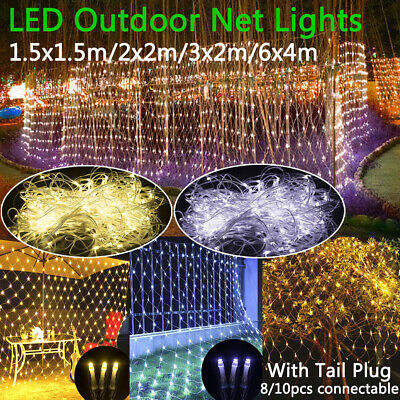 UK 6MX4M LED String Fairy Lights Curtain Net Mesh Tree New Year Valentine's Day • 15.67£