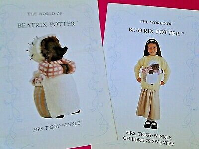 Alan Dart Beatrix Potter Toy & Jumper Knitting Patterns Mrs Tiggy Winkle • 24.99£