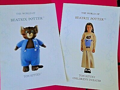 Alan Dart Beatrix Potter Toy & Jumper Knitting Patterns Tom Kitten • 24.99£