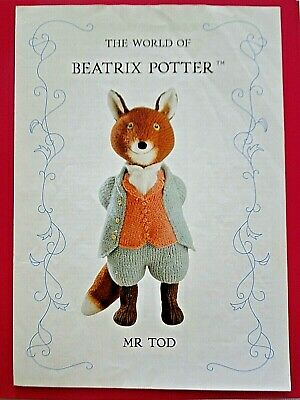 Alan Dart Beatrix Potter Toy Knitting Pattern Mr Tod • 28.99£