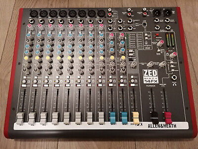 £320 • Buy Allen & Heath ZED60-14FX Mixer Excellent Condition With A Cary Case