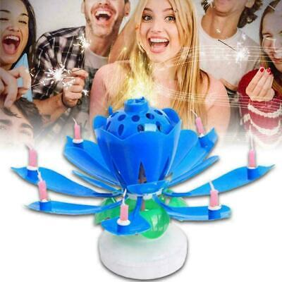 $ CDN5.81 • Buy ROTATING Lotus Candle Birthday Flower Musical Floral Cake G0Y0 &Music Magic J0T5