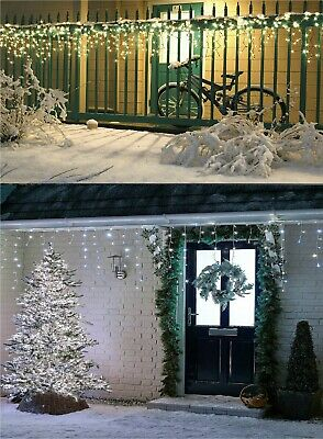 Christmas LED Icicle Lights Snowing Effect Multifunction Timer Indoor & Outdoor • 90.24£