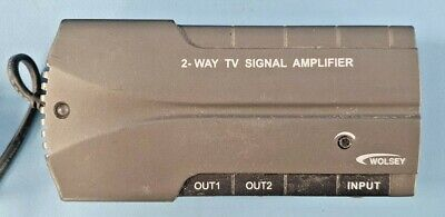 £11.99 • Buy Wolsey TV Booster 2 Way Distribution Signal Amplifier 334032