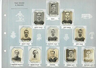 11 Godferry Phillips 1920s Pinnace Football Cards Crystal Palace 44x34mm  • 11£