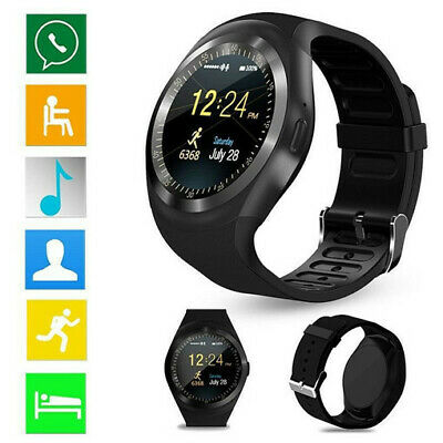 Waterproof Bluetooth Smart Watch Phone Mate For Android IOS IPhone Samsung LG Y1 • 9.99£