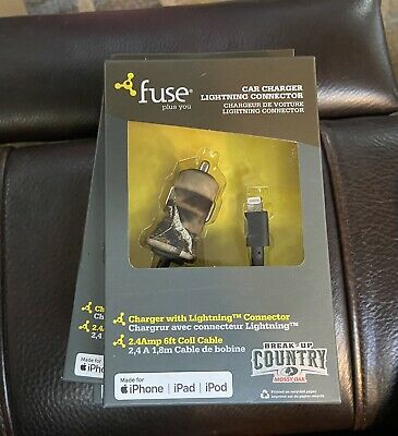 £9.40 • Buy Fuse Mossy Oak Car Charger Lightning Connector For IPhone IPad IPod #08407