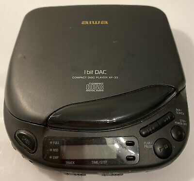 AIWA XP 33 Portable Compact Disc CD Player Walkman Discman Retro Vintage Black • 39.99£