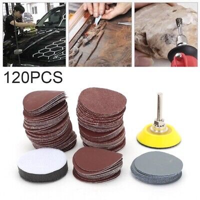 £6.99 • Buy Sanding Discs Pad Kit For Drill Grinder Rotary Tools + Backing Pad 2 Inch 120PCS
