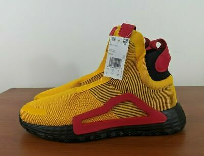 $ CDN123.85 • Buy Adidas N3xt L3v3l Laceless Sneakers Gold Red Next Level F36292 Size 9.5 - 14