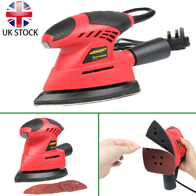 Heavy Duty Electric Detail Palm Mouse Sander Power Tool + 6 Sanding Sheets 130W • 20.99£