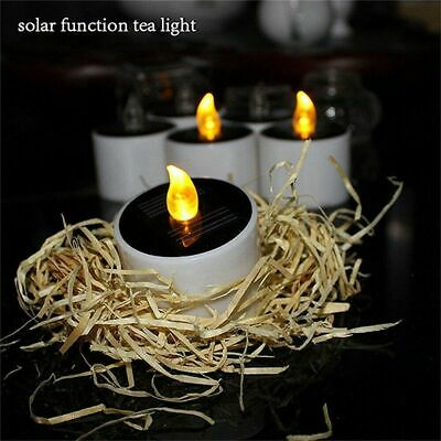 6/12x Solar Powered LED Candles Flameless Electronic Waterproof Tea Lights Lamp • 4.99£