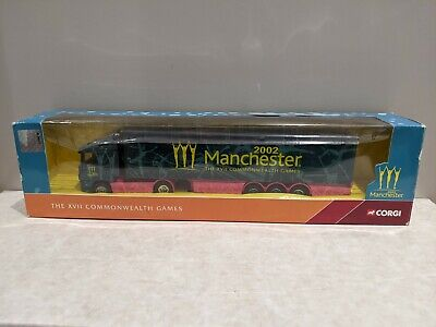 NEW BOXED Corgi Manchester 2002 XVII Commonwealth Games CC86612 Scania Lorry • 8.49£