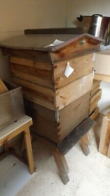 2 Bee Hive Includes Brood Box /2 Supers/roof/stand Landing Stage /queen Excluder • 295£