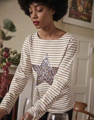 £18.95 • Buy Joules Womens Harbour Luxe  Long Sleeve Jersey Top - Star