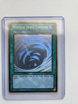 Mystical Space Typhoon GLD5-EN038 Gold Ghost Rare Yugioh *Near Mint* • 18£
