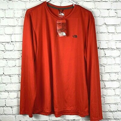 £28.63 • Buy NWT The North Face Reaxion Amp Crew Shirt Size L Mens Base Layer Red Long Sleeve