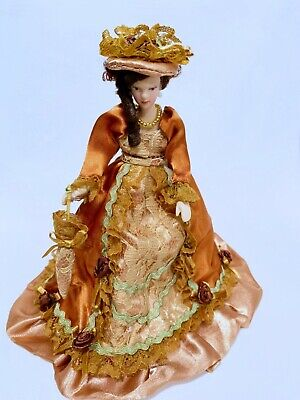 $ CDN31.56 • Buy Dollhouse Miniature Pose - Able Dressed Victorian Porcelain Lady Doll