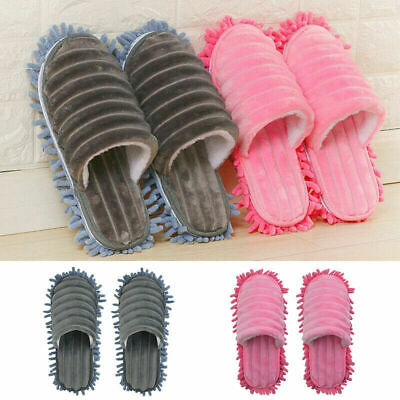 Mop Slippers Lazy Floor Foot Socks Shoes Quick Polishing Cleaning Dust 1pair • 8.39£