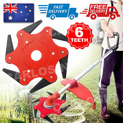 AU12.95 • Buy 6 Tooth Steel Blade Razor Lawn Mower Grass Eater Trimmer Head Brush Cutter Kit