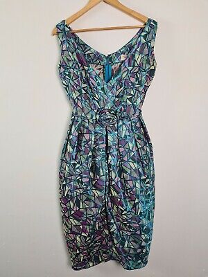 Tatyana 1950s Pin Up Style Dress Womens Size M Multicolour Geo By Bettie Page  • 48.02£
