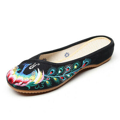Slippers Comfort Handmade Floral Cloth Shoe Chinese Women Embroidered Flat Shoes • 21.31£