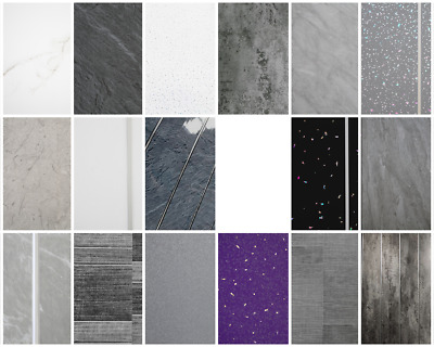 £49.88 • Buy Grey Bathroom Cladding Tile PVC Wall Panel White Ceiling Panels Marble (10 Pack)