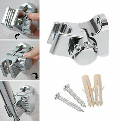 Universal Shower Head Holder Chrome Bathroom Wall Mount Adjustable Bracket UK • 5.54£