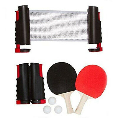 Table Tennis Game Instant Indoor Portable Travel Ping Pong Ball Set Extendable • 11.89£