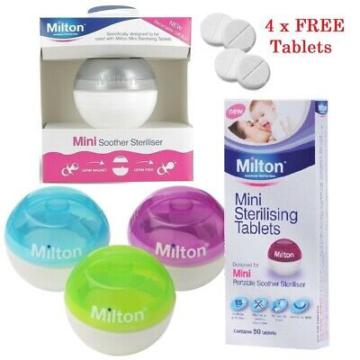 Milton Mini Soother Steriliser + 4 FREE Tablets Fast Baby Dummy Pod Sanitizer  • 9.99£