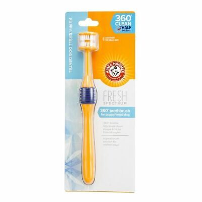 Arm & Hammer 360 Clean Toothbrush For Small Dog Puppy Teeth Remove Plaque Tartar • 7.10£