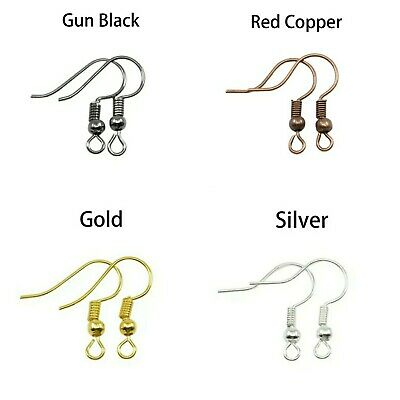 Earring Hooks Blanks Clasps Wire Jewellery Makings Findings Plated Fittings Base • 1.75£