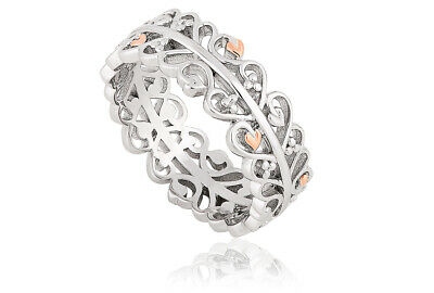 NEW Clogau Silver & Rose Gold Tree Of Life Vine Leaf Ring £40 OFF! SIZE S *RARE* • 109£