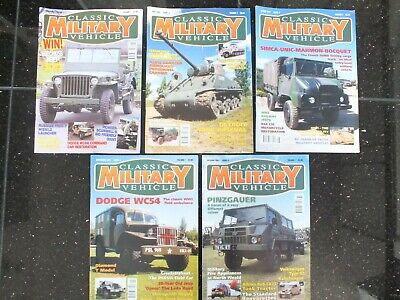 Classic Military Vehicle Magazines Issue 1 To 5 • 49.95£