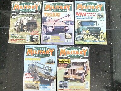 5 X CLASSIC MILITARY VEHICLE MAGAZINES ISSUE 6 TO 10 • 29.95£