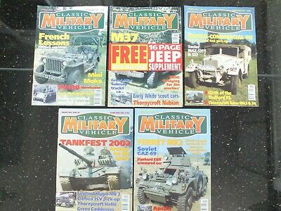 5 X CLASSIC MILITARY VEHICLE MAGAZINES ISSUE 16 TO 20 • 29.95£