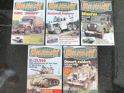 5 X CLASSIC MILITARY VEHICLE MAGAZINES ISSUE 21 TO 25 • 29.95£