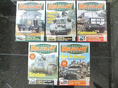 5 X CLASSIC MILITARY VEHICLE MAGAZINES ISSUE 26 TO 30 • 29.95£
