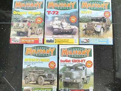 5 X CLASSIC MILITARY VEHICLE MAGAZINES ISSUE 31 TO 35 • 29.95£