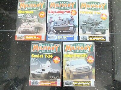 5 X CLASSIC MILITARY VEHICLE MAGAZINES ISSUE 36 TO 40 • 29.95£