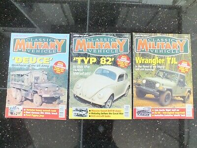 3 X CLASSIC MILITARY VEHICLE MAGAZINES ISSUE 41 TO 43 • 19.95£