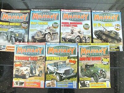 7 X CLASSIC MILITARY VEHICLE MAGAZINES ISSUE 68 TO 74 • 34.95£