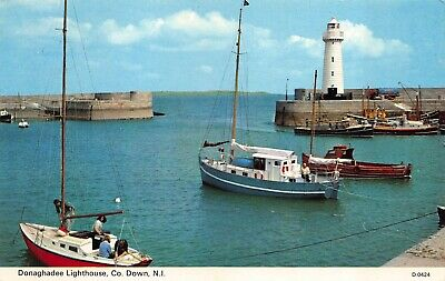 Donaghadee Lighthouse Co Down Northern Ireland Boats Harbour Postcard • 3.99£
