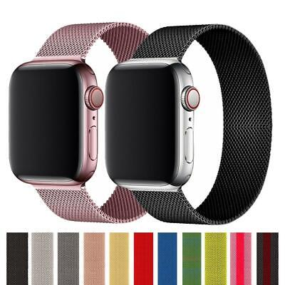 AU5.21 • Buy Strap For Apple Watch Band 40mm 44mm 38mm 42 Mm Accessories Milanese Loop Iwatch