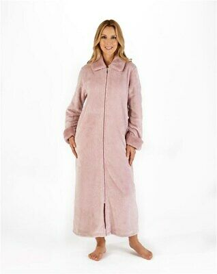 Slenderella Fleece Zip Front Dressing Gown - Pink • 52£